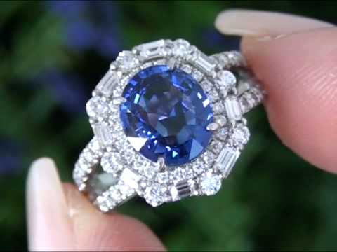 set in platinum diamond the cornflower and ring sapphire product blue
