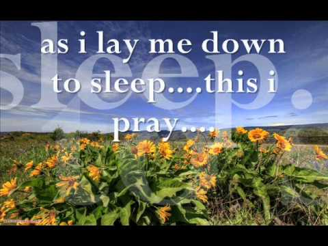 as i lay me down to sleep lyrics