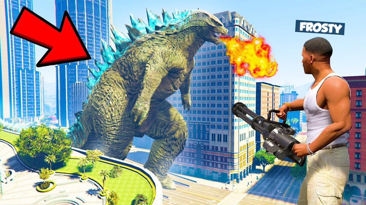 Download GIANT GODZILLA ATTACKED LOS SANTOS   GTA 5