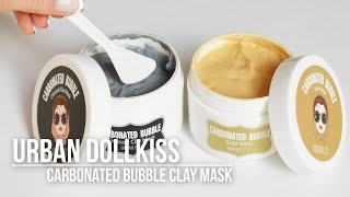 [K-beauty] Urban Dollkiss Carbonated Bubble Clay Mask Gold / Charcoal | K-beauty Blog Europe