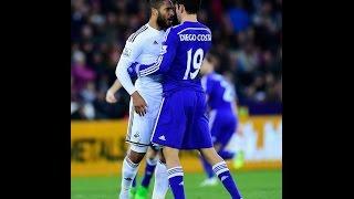 Costa vs Williams FIGHT / HD Swansea City-Chelsea 2015