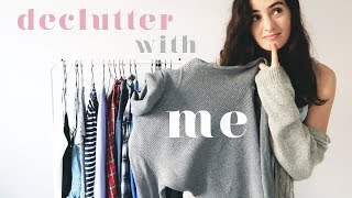MINIMALISM SERIES   DECLUTTER MY WARDROBE WITH ME