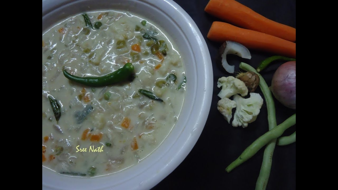 Kerala vegetable stew stew naadan kerala veg ishtu side dish kerala vegetable stew stew naadan kerala veg ishtu side dish for breakfast youtube forumfinder Images
