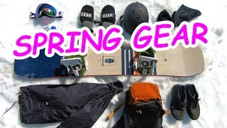 SPRING SNOWBOARD GEAR COLLECTION