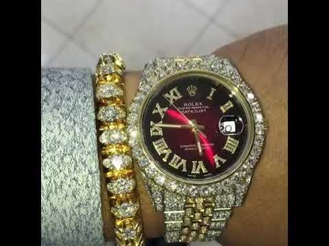 Rolex Mit Diamanten Besetzt Wow Youtube