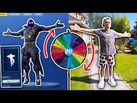 FORTNITE DANCE CHALLENGE! (IN REAL LIFE) - If you spin it, you do the dance.