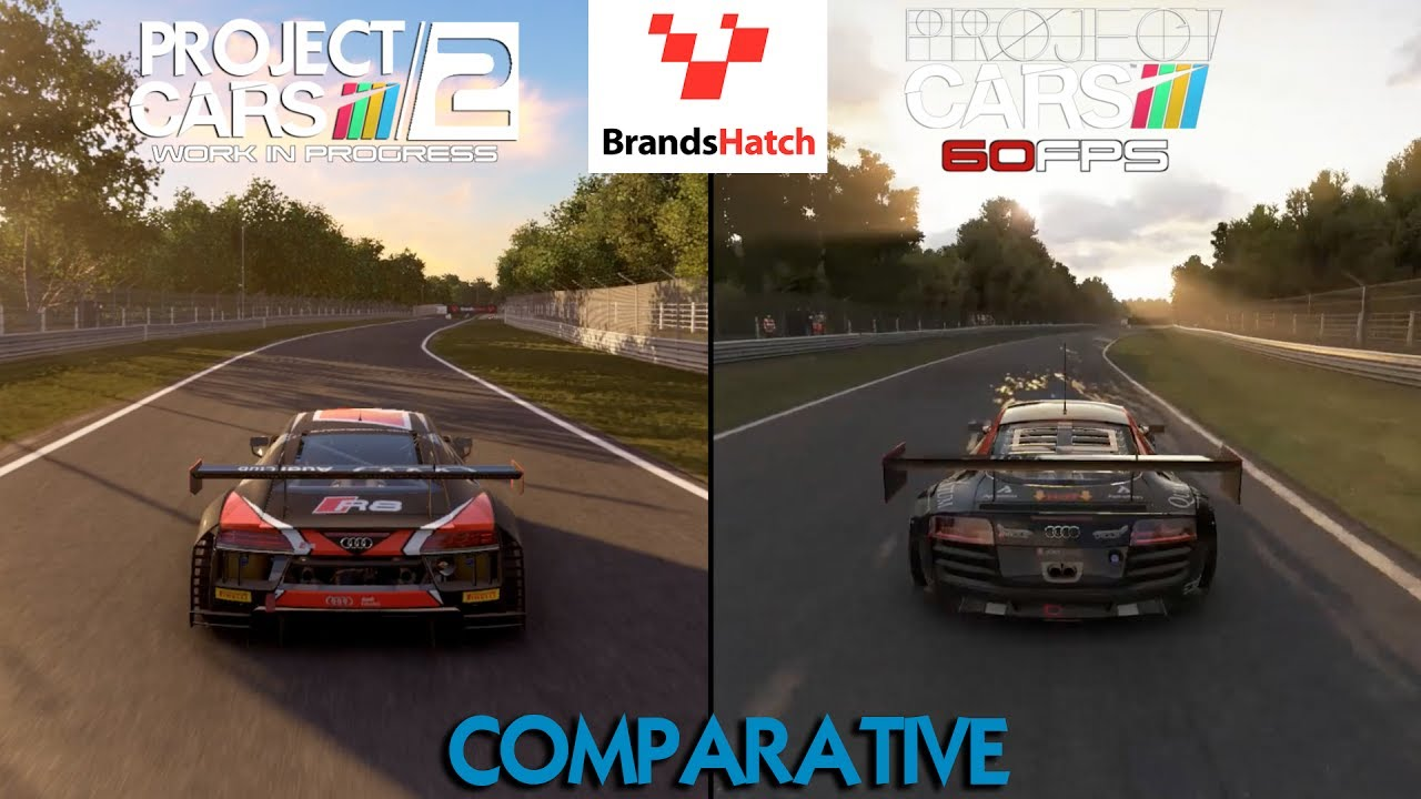 project cars 2 vs project cars brands hatch youtube. Black Bedroom Furniture Sets. Home Design Ideas
