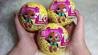 LOL sursprise Confetti Pop Series 3 Unboxing! Super Satisfying ! I Got a rare doll!