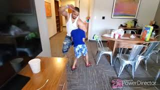 HASSAN CAMPBELL Goes WWE ON HIS SON