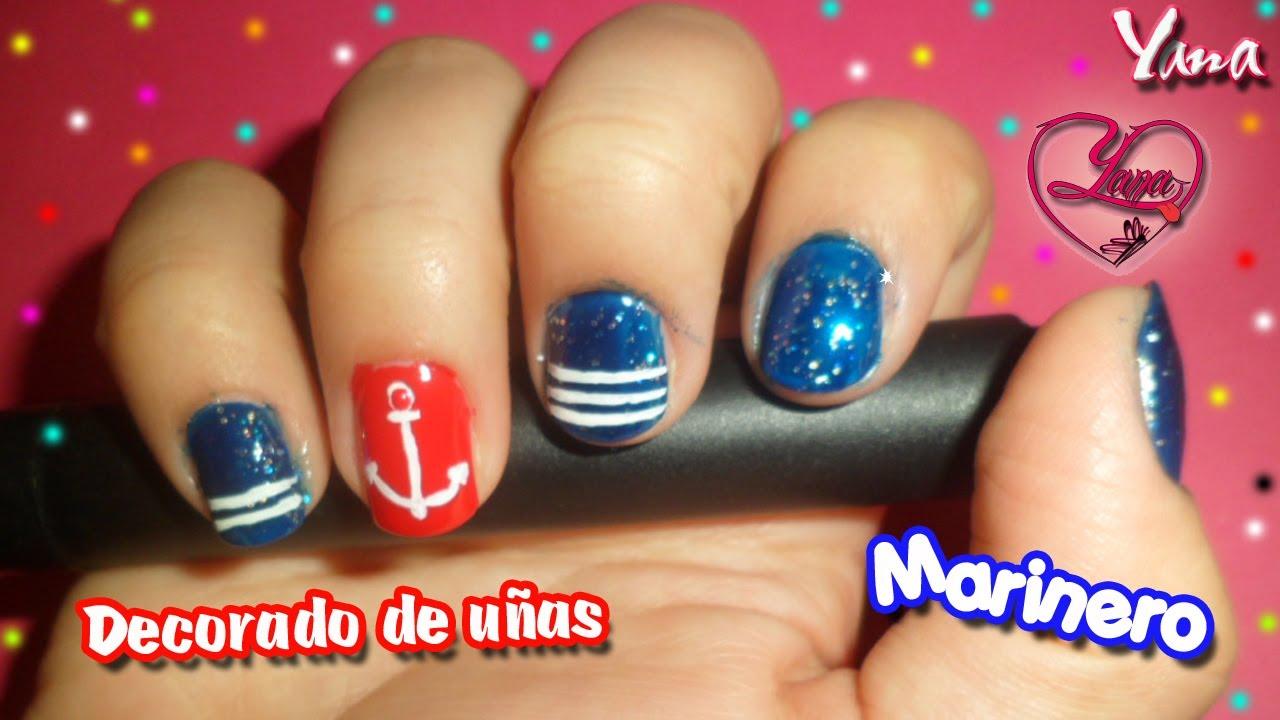 Decoraciones de u as marinero yanacol nail art youtube - Decoraciones de unas ...