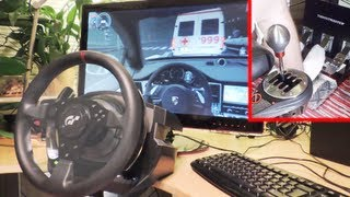 City Car Driving - Porsche Panamera Turbo Thrustmaster T500 RS 1080°, TH8RS Shifter, trackIR -1080p.