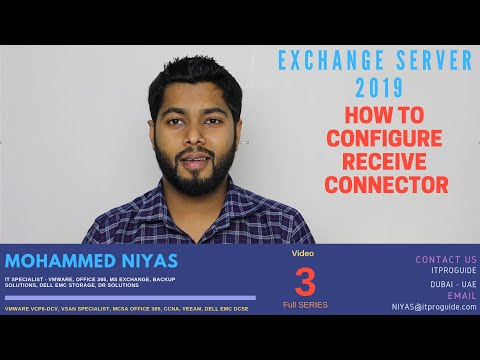 How To Configure Receive Connector In Exchange Server 2019 | Step By Step | All Methods | Video 3