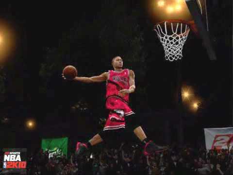 22fd0d7143f0 NBA 2K10 - Derrick Rose Slam Dunk Contest Highlights - YouTube