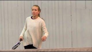 В канун Нового года в Уссурийске прошли соревнования по большому теннису среди детей