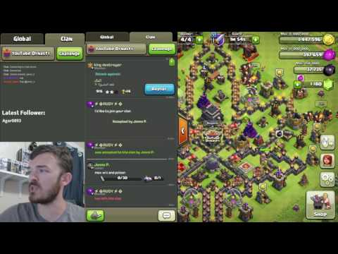 Town Hack 2 LIVE Interview! Highest Level Town Hall 2 in Clash History!