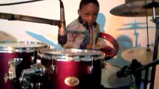 my 4yr old nephew Dumisani Ngcizela playing drums in