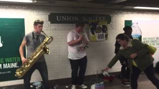 Too Many Zooz play at Union Square