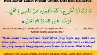Download Video Lafadz Niat Zakat Fitrah Lengkap Bahasa Arab, Latin dan Artinya MP3 3GP MP4