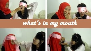 WHAT'S IN MY MOUTH CHALLENGE FT.MY SISTER [BAHASA INDONESIA]