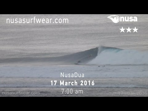 17-03-2016 /✰✰✰/ nusa's Daily Surf Video Report from the Bukit, Bali.