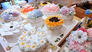 Торт красивее цветов, Художественный цветочный торт | Корейский десерт