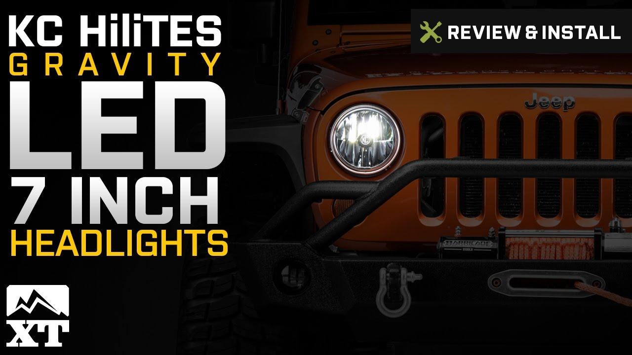 Jeep Wrangler Kc Hilites Gravity Led 7 In Headlights 2007