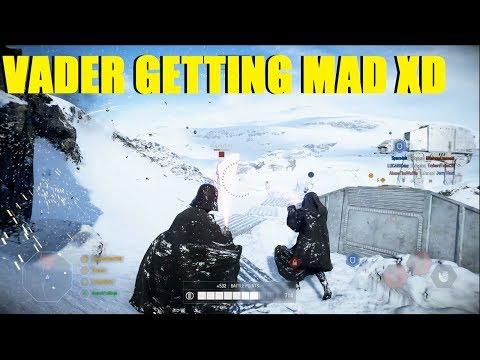 Star Wars Battlefront 2 - Darth Vader CARRY ruined by teammates XD Vader killstreak!