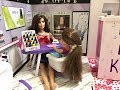 Barbie SALON! Nails! Hair! Girls Day