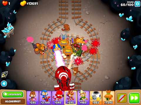 Bloons TD 6 - Underground CHIMPS v4.1 (lasting $40,640 at round 100)