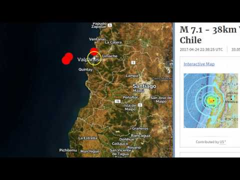 Strong 7.1 Earthquake Strikes Off Chile