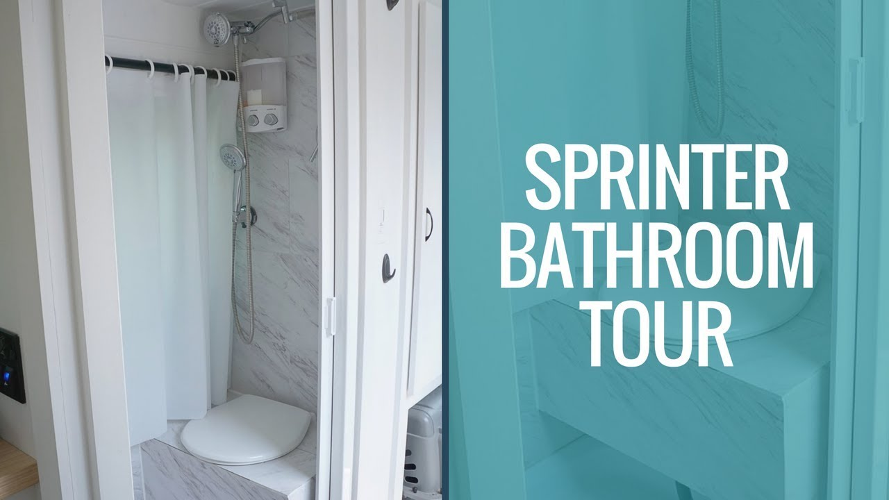 Van Life Tour: Sprinter Van Bathroom Tour | DIY Sprinter Van Shower ...
