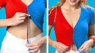 SMART HACKS FOR YOUR CLOTHES!👗  9 Truques de Moda DIY para Reaproveitar Roupas