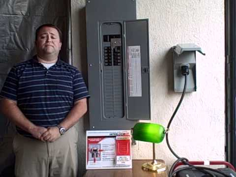 For House Wiring Circuit Breaker How To Use A Generator Interlock Kit Youtube