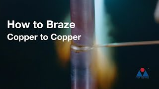 How to Braze Copper to Copper with BCuP-2 Brazing Rods
