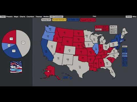 2020 Election Prediction | Howard Schultz vs Donald Trump vs Joe Biden