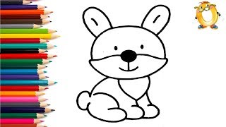 Раскраска для детей ЖИВОТНЫЕ. Мультик - Раскраска. Учим цвета.