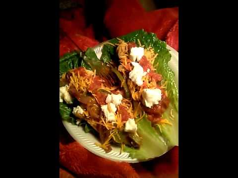 Lettuce chicken wraps 195 Calories