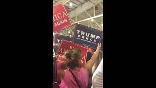 Guy wears black lives matter shirt to trump rally see what happens