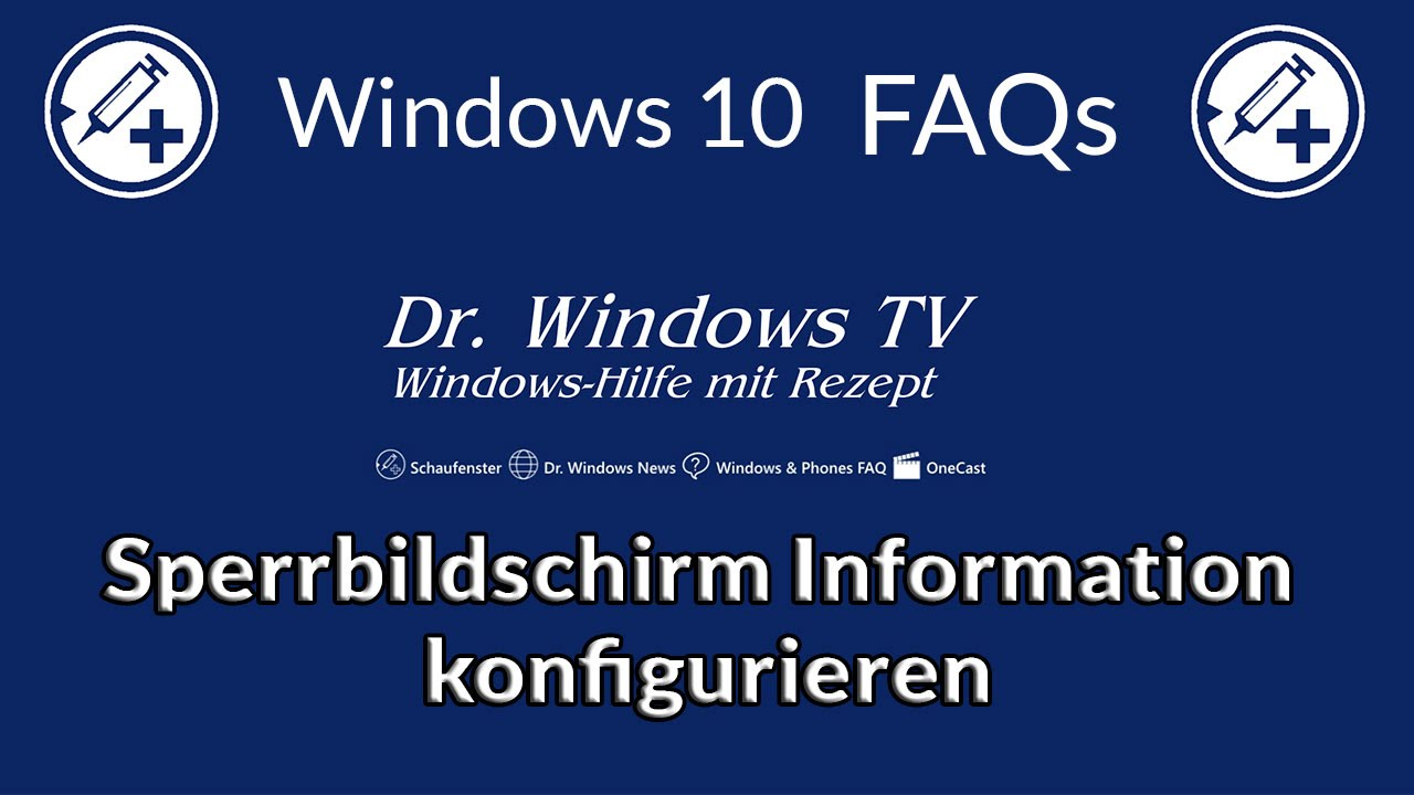 Windows 10 Konfigurieren