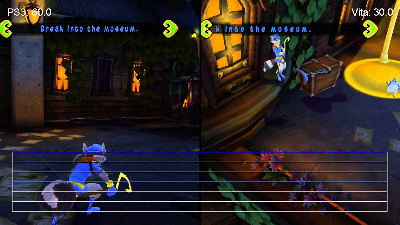Sly Cooper Ps3 Vs Ps Vita Frame Rate Tests Youtube