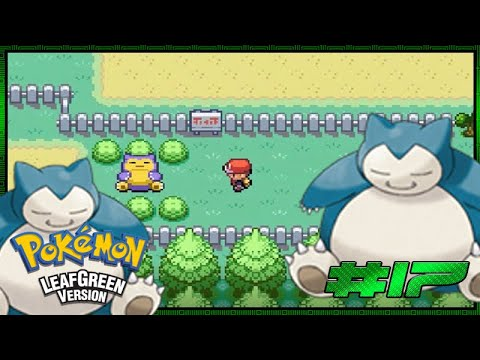 how to get past snorlax leaf green