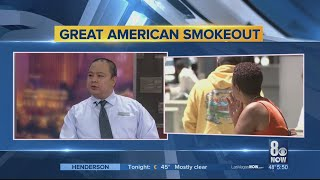 The great american smokeout urges people to quit smoking