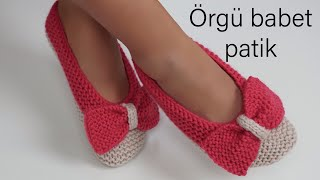 Knitted Babette booties/knitted bow making /Figen Ararat