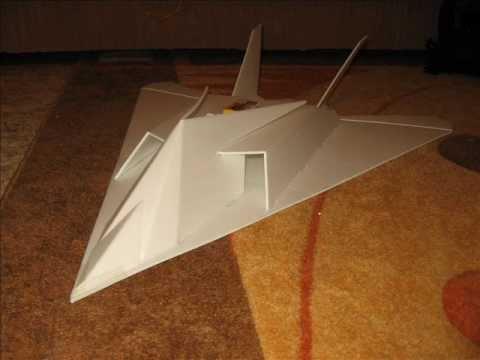 F-117 depron (depron) RC - YouTube