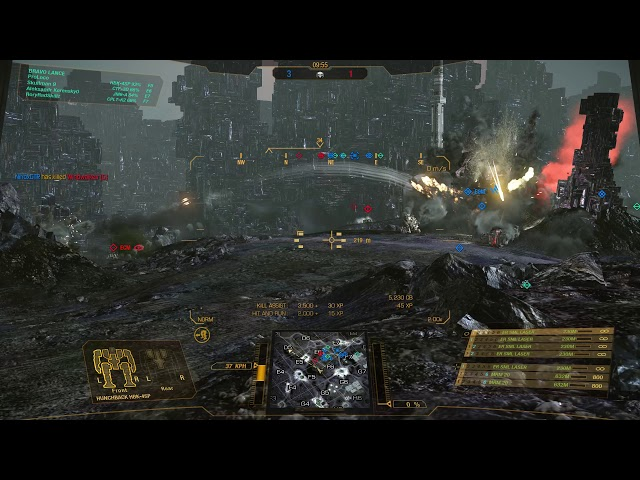Flanking with a Hunchie    Mechwarrior Online