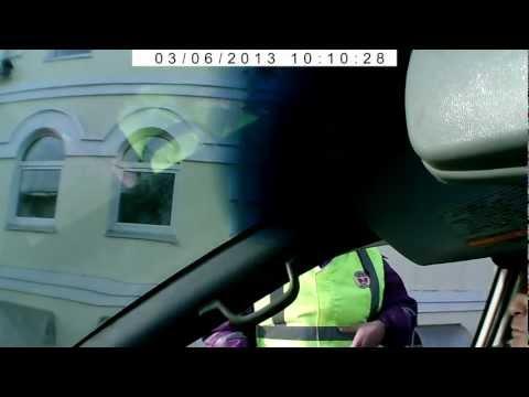 Проезд на мигающий зелёный сигнал светофора!