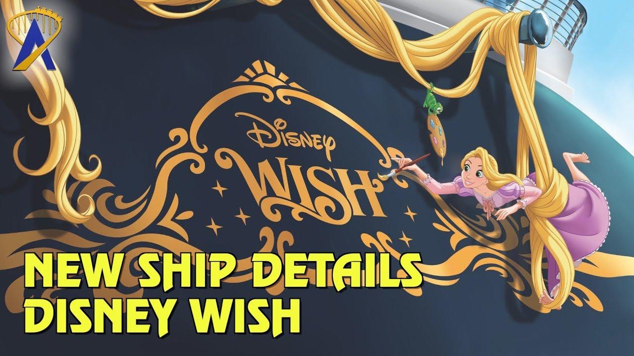 Disney Wish Ship Details Revealed For Disney Cruise Line Youtube