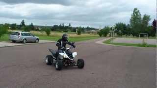 Yamaha 700 raptor superquader en action