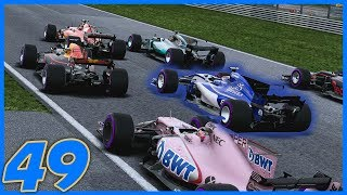 OH THROUGH THE MIDDLE!! |9/20| F1 2017 Sauber Career Mode S3. Episode 49