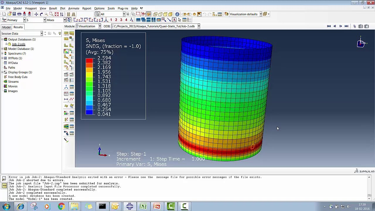 Abaqus Cae Hydro Static Pressure Application Tutorial